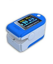 Fingertip Pulse Oximeter Blood Oxygen Monitor + Case