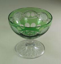 Bleikristall Konfektschale Römer - grün & farblos Überfangglas