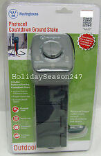 Westinghouse Outdoor Garden 3 Outlet Timer Photocell Auto Control Ground Stake