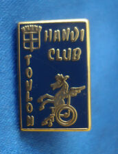 PINS RARE VINTAGE SPORT ASSOCIATION HANDI CLUB TOULON HANDICAP BASKET BALL wxc h