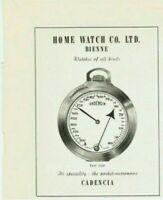 vintage 1953 print ad CADENCIA Swiss Suisse watch metronome MID CENTURY ART