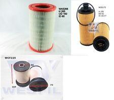 Wesfil Air Oil Fuel Filter Kit for HOLDEN RG Colorado & Colorado 7 2012 - Onward