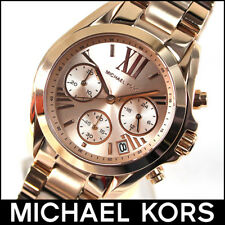 MICHAEL KORS MK5799 ROSE GOLD BRADSHAW MINI WATCH - 2 YEAR WARRANTY