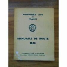 Annuaire de route 1968 / Automobile club de France / Réf50009