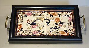 Masons Mandalay wooden tiled tray