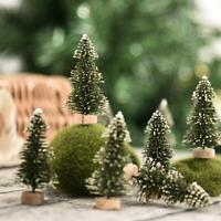 12Pcs Mini Christmas Tree Festival Home Party Tabletop Ornaments Xmas Decor Gift