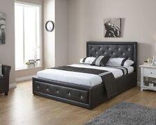 Cadres de lit et lits coffres modernes blancs en cuir pour la maison