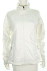 Columbia Sport Snow White Womens Fleece Winter Zip Up Ski Jacket Size Large
