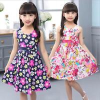 New Summer Floral Girl Dresses Girls Clothes Kids Cotton Dress Size