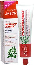 Jason POWERSMILE Antiplaque, Whitening, Fluoride-Free Toothpaste PEPPERMINT 6 oz