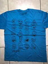 Empyrean Clothing Company Men's Graphic Tee Size Large Shirt Faces Caricatures