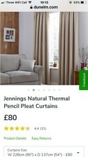 Natural Thermal Lined Curtains 90 X 54 New Cost £80 Last Week.