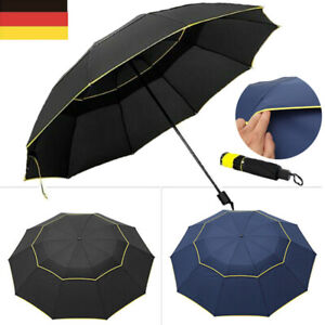 XXL Regenschirm Partnerschirm Groß Golfschirm Sturmsicher Windfest Schirm 130 cm