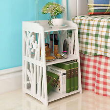 Bedside Table White Wooden Cabinet Unit Storage Bedroom Nightstand