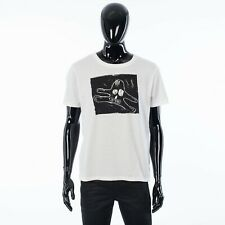 CELINE x ANDRE BUTZER 480$ Tshirt In White Printed Cotton Jersey