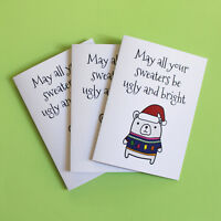 Funny Christmas Card Pack / 3 Cards / Friends of Henry / Christmas Sweaters