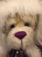 "Ooak Artist Mohair Bear ""santa Bear"" By Doloris Austin 30 Inches"