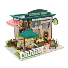 Dollhouse Kit DIY Miniature Wooden Handmade House Furnished Coffee Shop Gifts