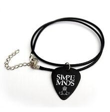 "Simple minds Guitar Pick printed logo 18"" picks plectrum cord necklace"