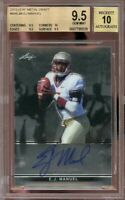2013 leaf metal draft #baejm EJ MANUEL bills rookie BGS 9.5 (9.5 10 9.5 9.5)