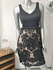 NEW Sequin Hearts Dress Junior Womens Size 11/13 Lined Black Event Lace Illusion