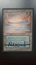 MtG Underground Sea ITA Black Bordered FBB Beta Magic Dual Lands signed good MP