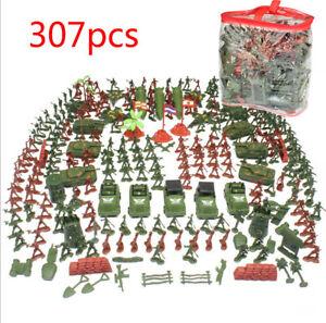 307x Plastik Soldaten Satz Militär Figuren Panzer Düsenjet Spielzeug Toy Modell