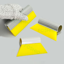 3 Set Yellow Turbo Squeegee Multiple Sizes Window Tint Film Tool Water Scraper