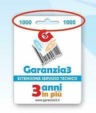 GARANZIA3 GR3-1000 ESTENSIONE GARANZIA SERVIZIO TECNICO 3 ANNI MASSIMALE 1000€