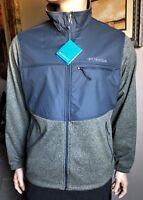 Columbia Men's SYNDER LAKE FULL ZIP Fleece Jacket size L $90 GREEN/GRAY