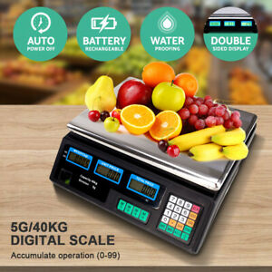 40kg Digital Fruit Scales Electronic Veg Commercial Shop Retail Price Weigh