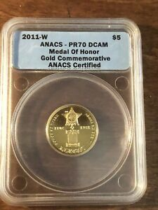 2011-W $5 Gold Medal Of Honor