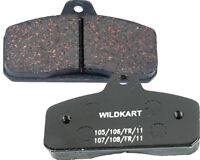 Wildkart Medium Black Rear Pad Set UK KART STORE