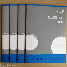 NEW - 4 x A4 BOOK KEEPING JOURNAL - Silvine Accounts Cash Ledger - 4 x BOOKS