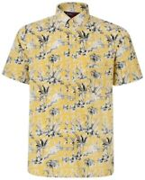 New Mens Big Tall King Size Button Down Short Sleeve Shirt Kam Floral Palm ss