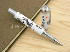 Jinhao Blue And White Porcelain Three Sheep Painting Ceramic Rollerball Pen