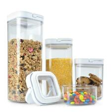 4 Piece Food Storage POP Container Set Airtight BPA Free NEW Keep Food Dry