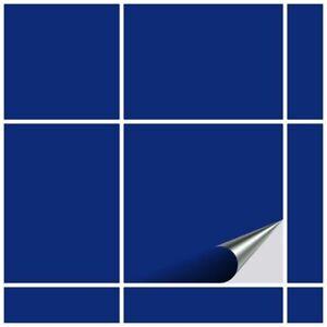 FoLIESEN Fliesenaufkleber für Küche und Bad - Fliesenfolie Königsblau