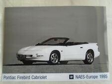 Pontiac Firebird Cabriolet press photo brochure 1995