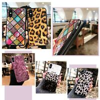 Exotic Glossy Bling Leopard Phone Case Cover For iPhone XR 11 12 MINI PRO MAX