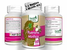 3 x BOTTLES  PUERARIA MIRIFICA 3000mg BUST FIRMING BREAST ENLARGEMENT CAPSULES