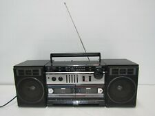 VINTAGE SANYO MW227 GHETTO BLASTER BOOMBOX AM/FM STEREO RADIO + DUAL CASSETTE WO