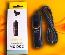 Télécommande déclencheur Cordon commutateur pour Nikon D90 D3200 D5000 D5100 D7000 MC-DC2