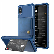 Wallet Case Credit Card ID Holder Slim Phone Cover for iPhone 7 8 Plus XR Case