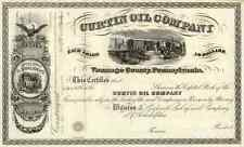 186_ Curtin Oil (Venango Co, Pa) Stock Certificate