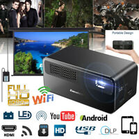 7000LM 1080P FULL HD Wireless Wifi Android DLP Projector 16GB Home Movie Theater