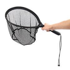Maxcatch Fly Fishing Landing Nets Nylon Aluminium Frame Black Elastic