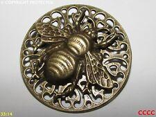 Steampunk broche insignia con Pin Bronce miel Bumble Bee Nectar polen Manchester