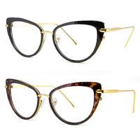 Cat Eye Clear Lens Glasses Metal Gold 50S Vintage Women Retro Eyeglasses