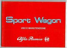 1989 ALFA ROMEO 33 SPORT WAGON 1.3 manuale uso e manutenzione originale